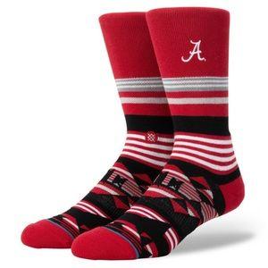 Stance Alabama Crimson Tide Geo Stripe Crew Socks